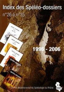 Index Spéléo-Dossiers n°26 à 35 (2006)