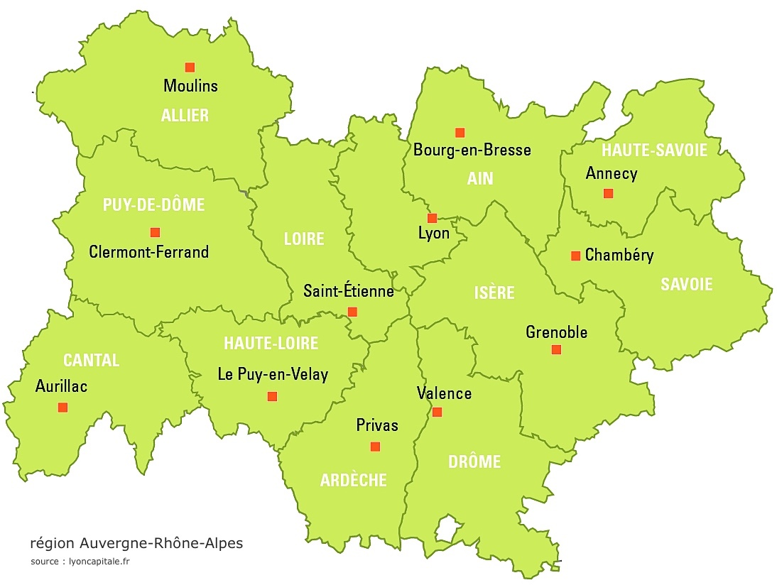 carte-rhone-alpes - Photos