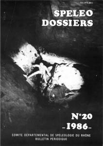 Spéléo-Dossiers n°20 (1986)