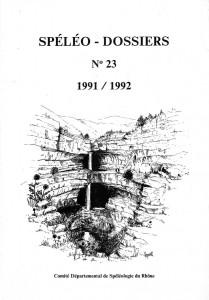 Spéléo-Dossiers n°23 (1991/1992)
