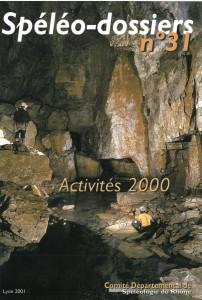Spéléo-Dossiers n°31 (2001)