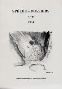 Spéléo-Dossiers n°25 (1994)